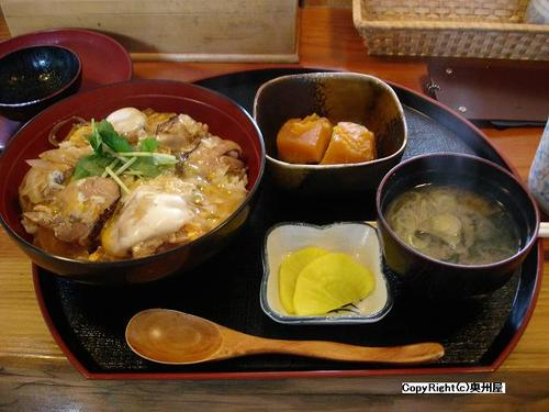 ホロホロ鳥の親子丼 (旭日之湯・食堂)