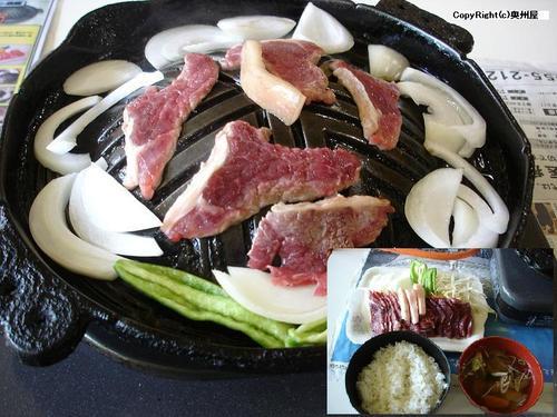 ジンギスカン定食(マトン・モモ) (あんべ)